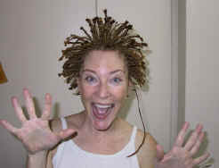 crazy woman's hair