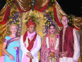 bride and groom at wedding in Delhi India